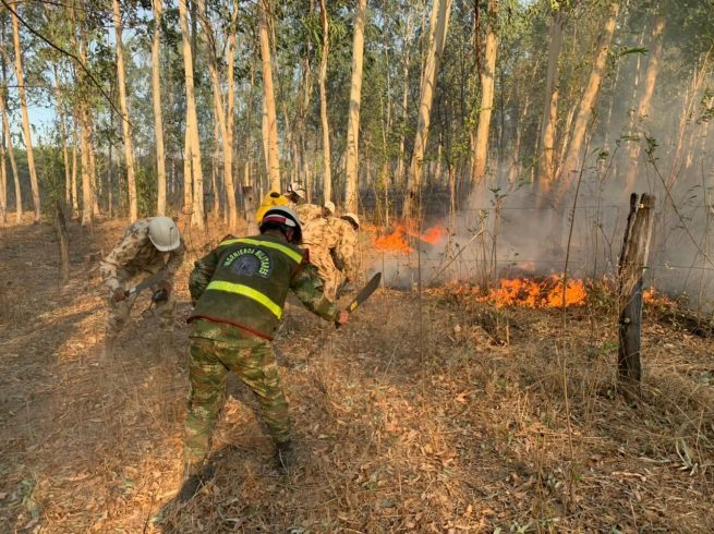 En Valledupar, Ejército Nacional instala puesto de mando unificado para mitigar los incendios forestales