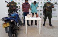 Capturados cuando se movilizaban en una motocicleta con caleta de cocaína