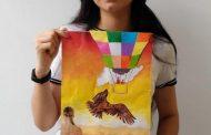 Universitaria barranquillera se destaca en Valledupar por su obra de arte