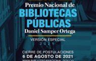 Abierta convocatoria para la segunda versión especial del Premio Nacional de Bibliotecas Públicas