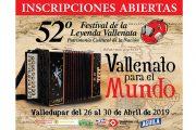 Abiertas las inscripciones para el 52 Festival Vallenato