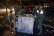 La Polfa desmontó 26 casetas e incautó más de 13.000 galones de combustible