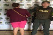 Mujer fue capturada por porte de estupefacientes