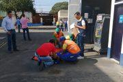 Se realizó simulacro de emergencias en las estaciones de gasolina de Valledupar