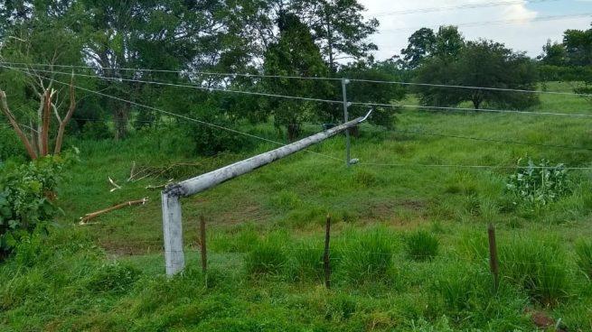 Servicio de energía en varios sectores del Cesar afectado por vendaval