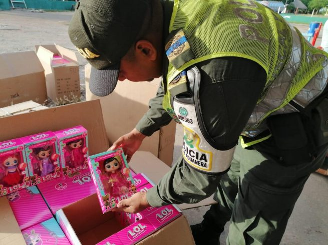 En Bosconia cayó cargamento de juguetes de contrabando