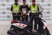 Cayó con motocicleta hurtada en el sur del Cesar