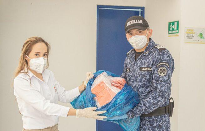 Comfacesar entrega tapabocas a entidades con mayor riesgo de contagio por covid-19