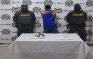 En Valledupar, capturado hombre por porte ilegal de arma de fuego; 186 capturas van en el Cesar por este delito
