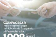 A 1.009 beneficiarios, Comfacesar les hizo el segundo pago del subsidio de emergencia al desempleo