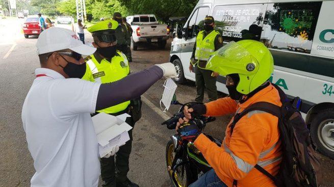 Policía emprende campaña de salubridad en vías del Cesar