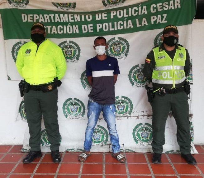 """Capturado en La Paz (Cesar) """"El Manco"""", sindicado de tres delitos"""