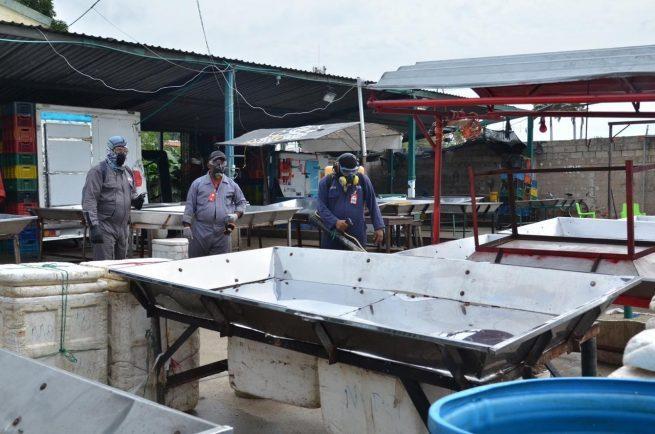 Pabellón del Pescado de Valledupar, sometido a limpieza y desinfección