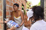 500 familias de la margen derecha del río Guatapurí recibieron complementos alimenticios