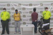Capturado adulto y aprehendido adolescente por hurto de celular y motocicleta en Aguachica