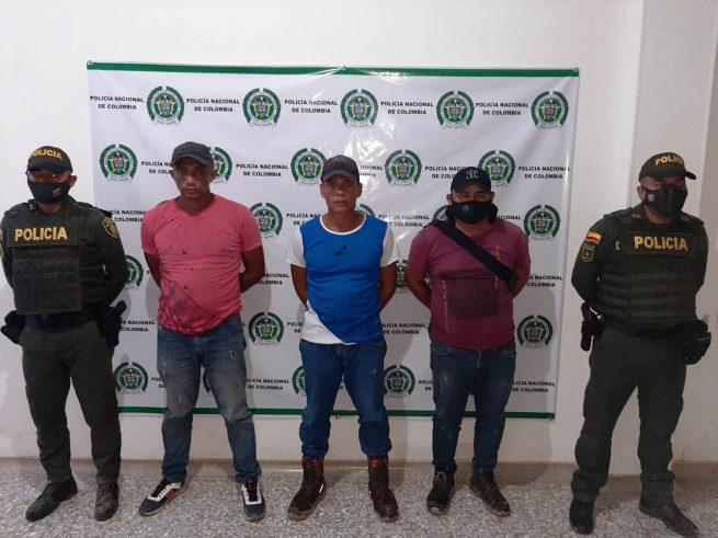 Cinco capturados por abigeato en Valledupar y El Paso