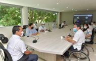 Proyectos de emprendimiento para población con discapacidad y saneamiento del Idreec, temas tratados por Gobernador del Cesar y Consejero Presidencial