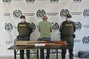 Capturados en la vereda Las Piñas (Becerril) portando armas de fuego