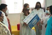 Vicepresidenta entregó máquinas industriales e insumos para cooperativa artesanal en La Guajira