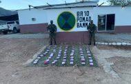 Ejército Nacional incautó 63 paquetes de marihuana en el Cesar
