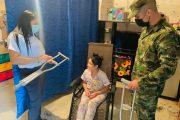En el Cesar, Ejército Nacional entregó elementos ortopédicos