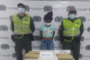 Con varias dosis de marihuana capturada mujer en Bosconia, Cesar