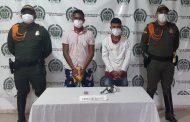 Capturados dos hombres con un arma de fuego en zona rural de Valledupar