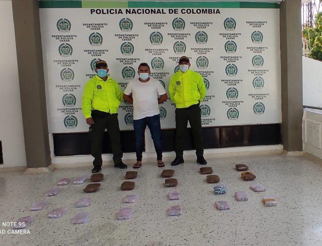 Hombre fue capturado con más 14 mil dosis de marihuana en Valledupar