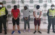 Capturados dos hombres y una mujer por hurto millonario en Pueblo Bello (Cesar)