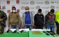 A la cárcel cuatro personas, presuntamente, implicadas en el delito de porte de armas de fuego y municiones