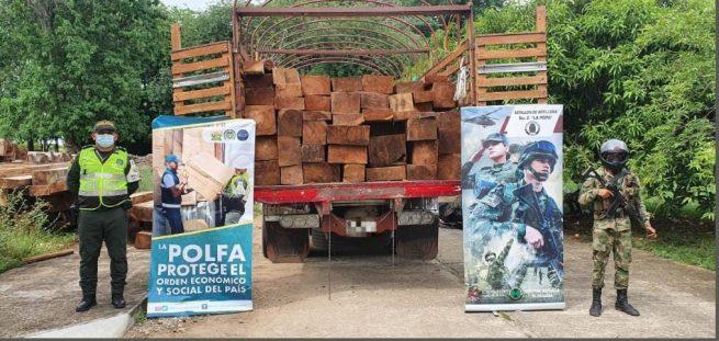 La Polfa incautó madera de contrabando en vías del Cesar