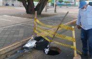 Ladrones tienen en jaque a Emdupar con el robo de tapas y rejillas