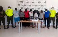 Judicializados 7 presuntos integrantes del grupo delincuencial Combo los Barrancos, dedicado al hurto en La Guajira