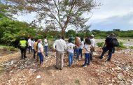 Frenar la problemática socioambiental en el río Guatapurí, es la apuesta de Corpocesar, tras visitar la margen derecha