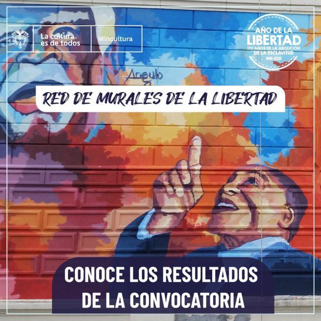 Listos los seleccionados para desarrollar la 'Red de Murales de la Libertad' en los 32 departamentos del país