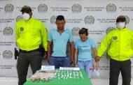 En Pelaya capturan a pareja sindicada de tráfico de estupefacientes
