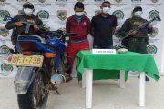Capturados en una motocicleta con 1.000 gramos de base de coca